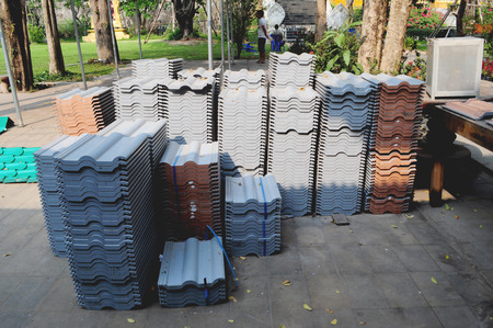 rooftile: Roof-tile Stock Photo