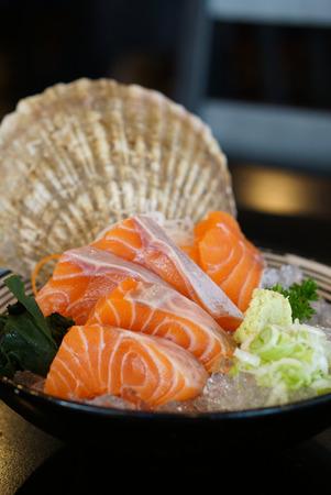 hotate: Japanese food - Salmon Sashimi