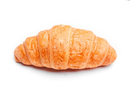 delicious croissant on a white background