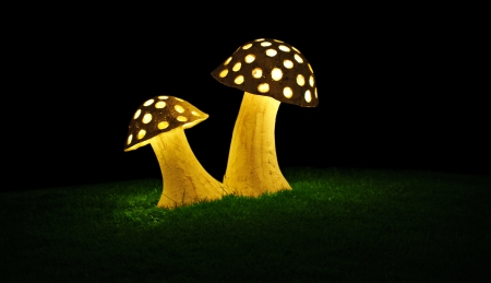 Decorative lamp in the form of a mushroom Banco de Imagens - 18002654