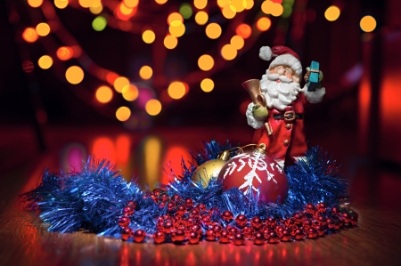 hotspot: New Years toys and Santa Claus with hotspot