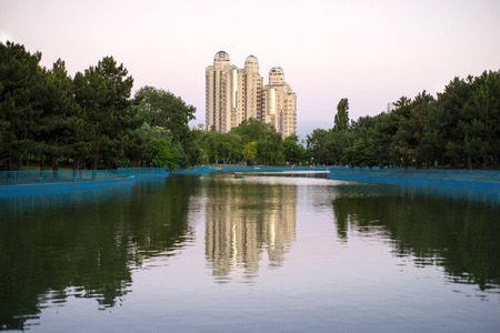 winning location: The artificial lake in the park Victory Editorial