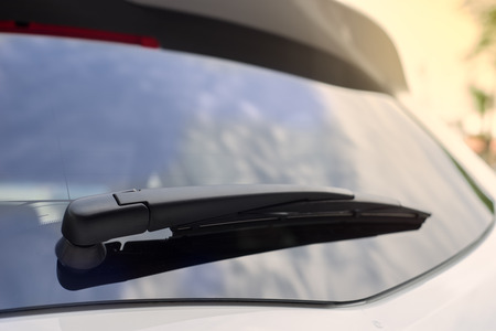 windows: The white car rear wipers