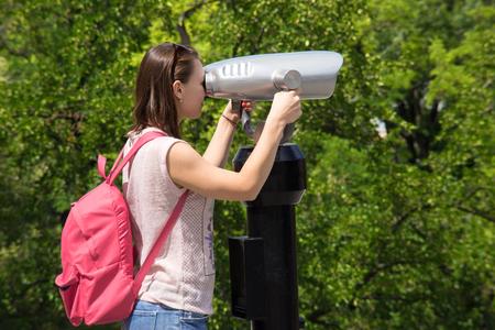 new idea: beautiful tourist binoculars at sunset