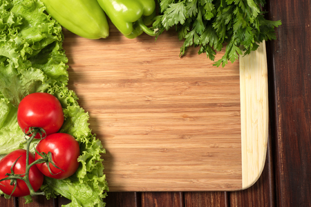 cutting vegetables: board for cutting vegetables
