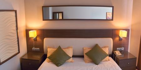 luxury hotel room: luxury modern style room hotel. Stock Photo