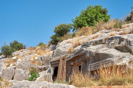 tumbas: Tumbas Lycians en Turquía. Kemer