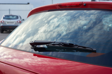 The red car rear wipers Banco de Imagens - 50171693