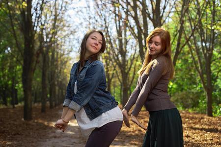 heterosexual: Two heterosexual in the park Stock Photo