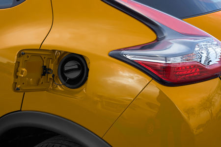 yellow car: outdoor tank yellow car Stock Photo