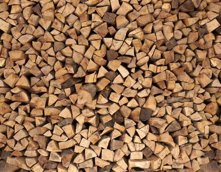 kindling: Dry firewood in a pile for furnace kindling