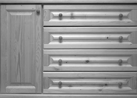 arredamento classico: cassettiera in legno Archivio Fotografico
