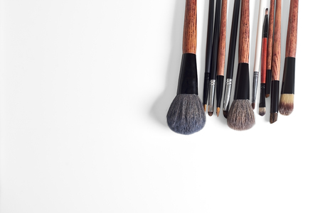 eyemakeup: makeup brush on a white background Stock Photo