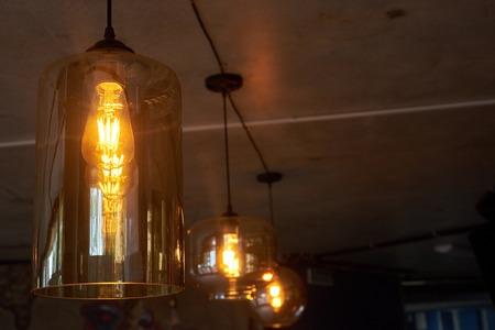 lamp light: Retro light lamp decor glowing