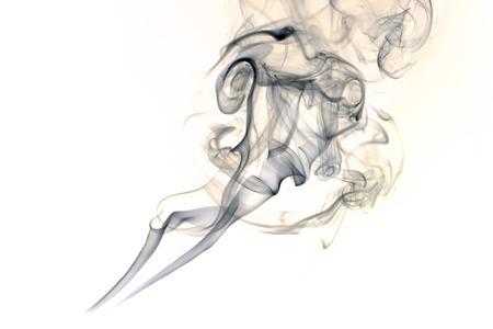White smoke collection on black background Stock Photo