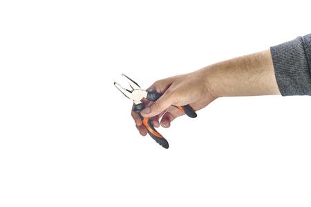 alicates: Hombre, mano, tenencia, alicates