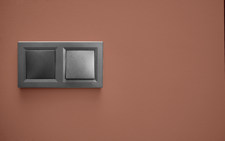 On the color wall euro socket