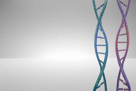 3D model dna. 3d render heredity. 3d image dnk molecule.