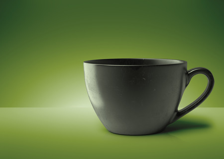 3D model cup of coffee . 3D render cup of green tea. 3D image. Foto de archivo