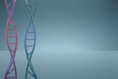 3D model dna. 3d render heredity. 3d image dnk molecule.