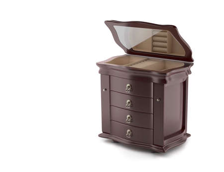 Open chest 3D model. Furniture in neoclassical 3d render. 3d image. 3d  illustration Standard-Bild