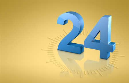 time o'clock 3D model. clock face 3d render. 3d image. 3d illustration