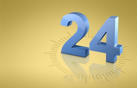 Time o'clock 3D model. Banco de Imagens