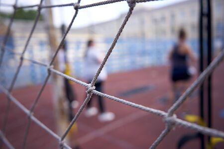 Grid shot in macro sports field