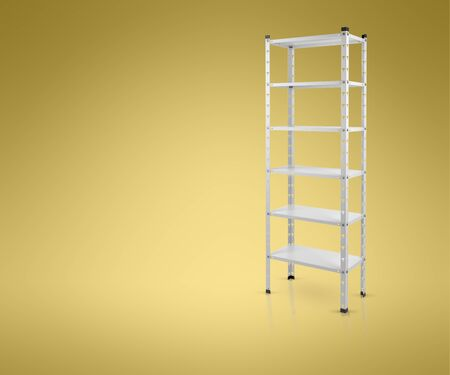 3D model metal shelves.