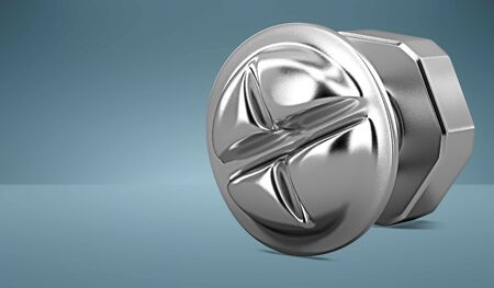 3D model iron bolt. Standard-Bild