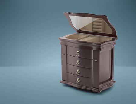 Furniture in neoclassical 3d render