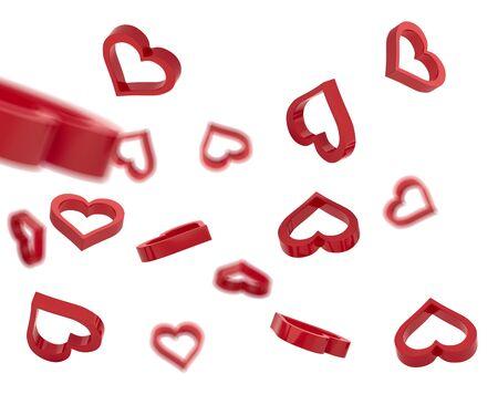 Symbol of love 3d render