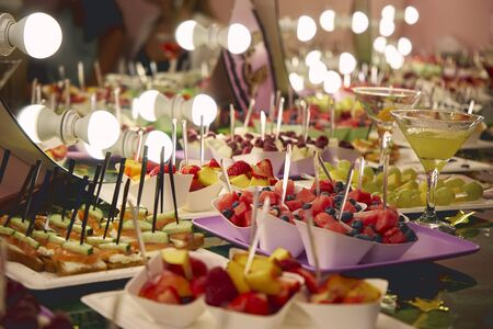 Many delicious snacks are on the table. Opening Celebration