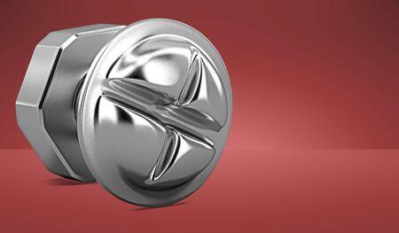 3D model iron bolt. Banco de Imagens