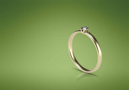 Wedding ring 3d image. Gold ring 3d render. Banque d'images - 131801524