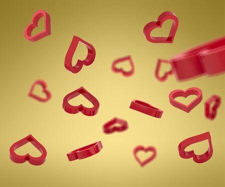 Heart 3D model. Banco de Imagens