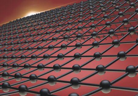 3d render molecule. Banco de Imagens