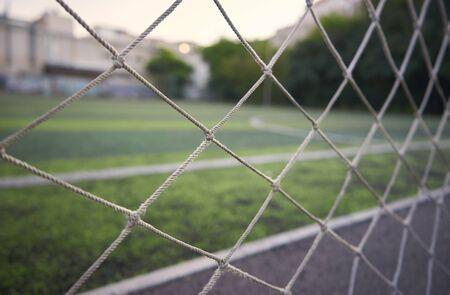 Grid shot in macro. sports field