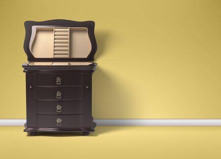 Furniture in neoclassical 3d render.