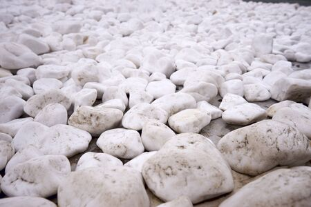 A beautiful marble embankment of minerals. White, bright and clean