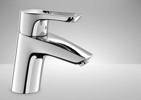 Water tap 3d image.
