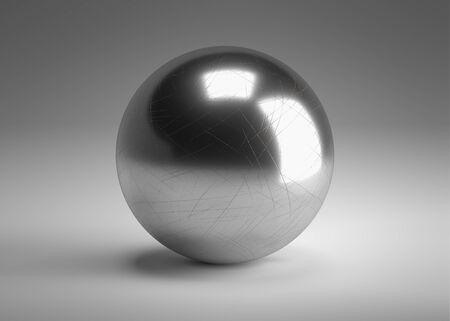 Chrome circle 3d render. Banco de Imagens