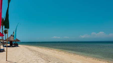 Beautiful sunny beach on the Nusa Lambongan Island of Bali, Indonesia.Gorgeous beach in summer