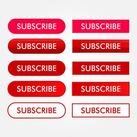 Subscribe Button Vector Icon