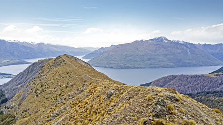 hiking and road trip in New Zealand Queenstown Imagens - 115682147