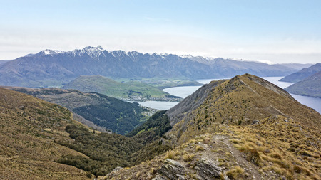 hiking and road trip in New Zealand Queenstown Imagens - 115682148