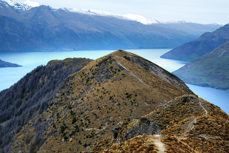 hiking and road trip in New Zealand Queenstown Imagens - 115682039
