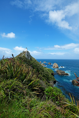 Nugget Point Lighthouse in New Zealand Imagens - 115682043