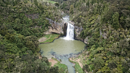 Aerial view of Hunua Falls Imagens