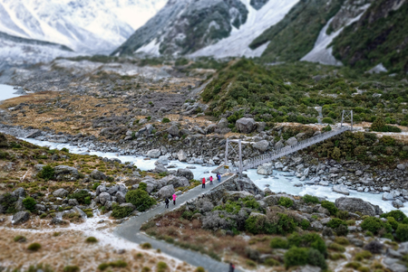 hiking at mt cook hooker valley track